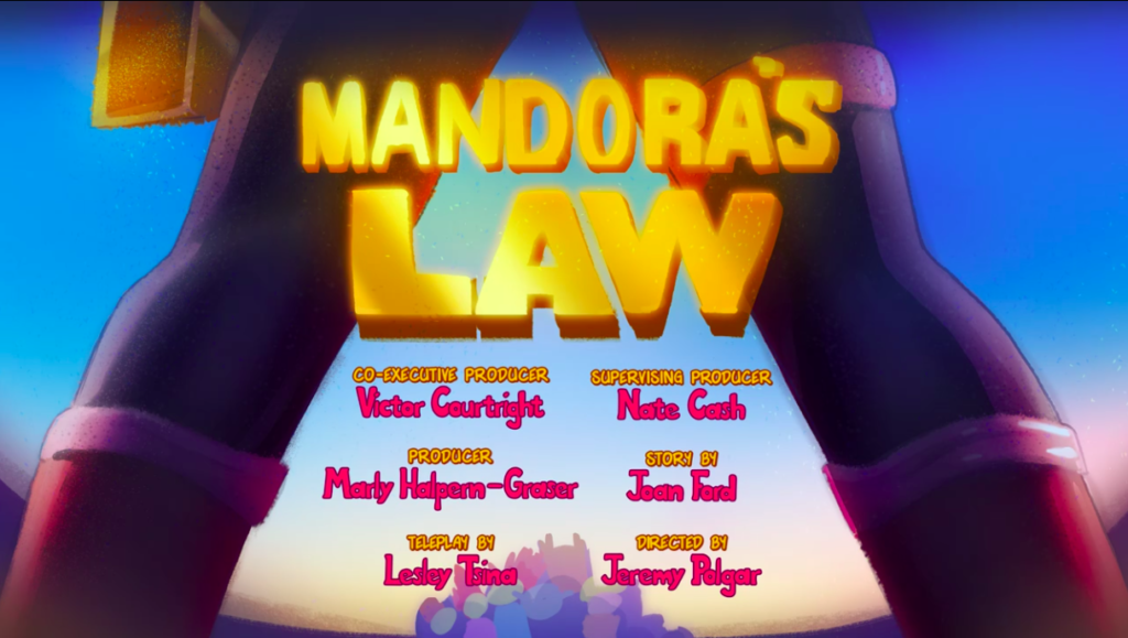 Mandora's Law title card